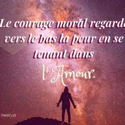 Le courage moral regarde