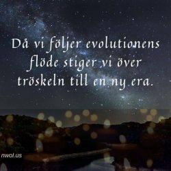 Da vi foljer evolutionens