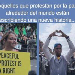 Aquellos que protestan poe la paz