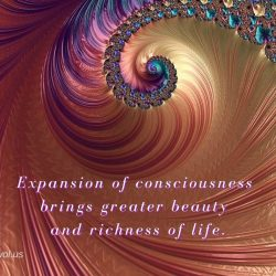 Expansion of consciousness brings greater beauty