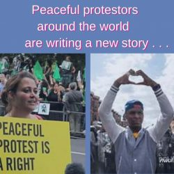 Peaceful protestors around the world