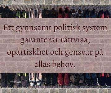 Ett gynnsamt politisk system