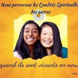 Nous percevons les Qualites Spirituelles