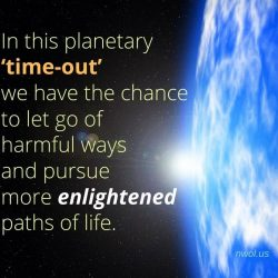 In this planetary time out
