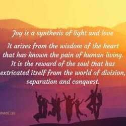 Joy is a synthesis of light and love