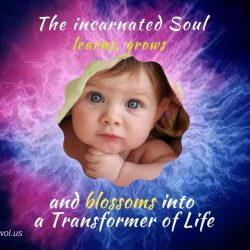 The incarnated Soul learns