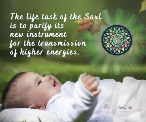 The life task of the Soul is to purify its new instrument for the transmission of higher energies.