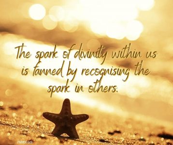 The spark of divinity within us