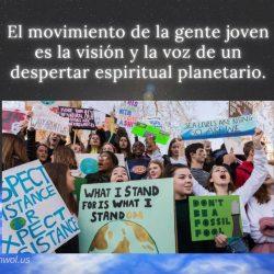El movimiento de la gente joven