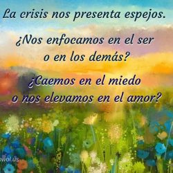 La crisis nos presenta espejos