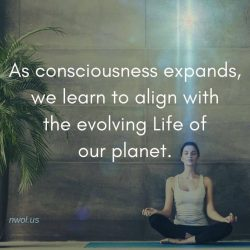 As consciousness expands we learn to align