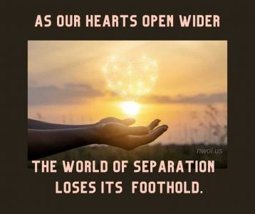 As our hearts open wider