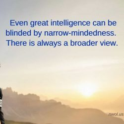 Even great intelligence can be blinded