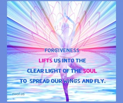 Forgiveness lifts us into the clear light of the soul to spread our wings and fly.