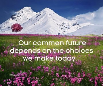 Our common future depends on the choices we make today