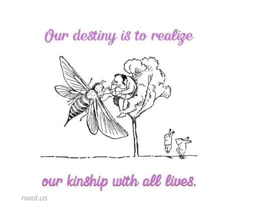 Our destiny is to realize our kinship with all lives.