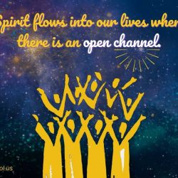 Spirit flows into our lives