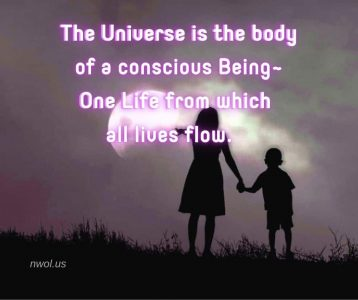 The Universe is the body of a conscious Being