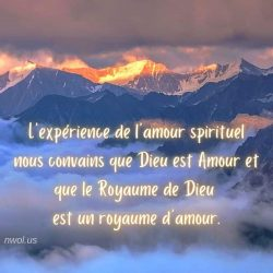 Lexperience de lamour spirituel