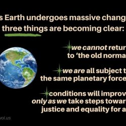 As Earth undergoes massive change
