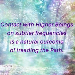 Contact with Higher Beings on subtler frequencies