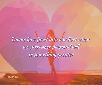 Divine love flows into our lives
