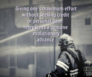 Giving maximum effort without seeking credit