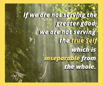 If we are not serving the greater good