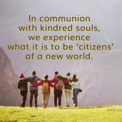 In communion with kindred souls