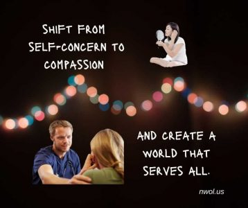 Shift from self-concern to compassion