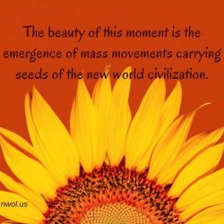 The beauty of this moment is the emergence of mass movements