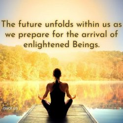 The future unfolds within us