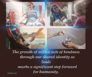The growth of selfless acts of kindness
