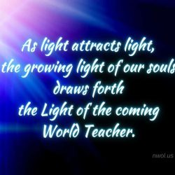 As light attracts light the growing light of our souls draws forth the Light