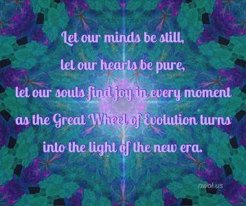 Let our minds be still  let our hearts be pure