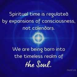 Spiritual time is measure by expansions of consciousness