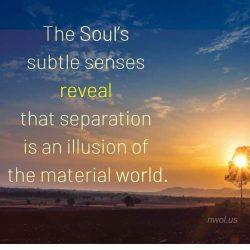 The subtle senses of the Soul