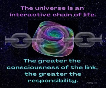 The universe is an interactive chain of life