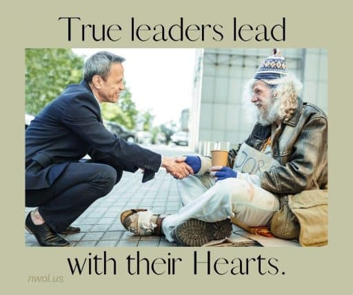 True leaders lead with their Hearts.