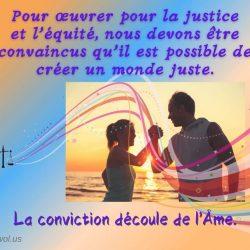 Pour oeuvrer pour la justice