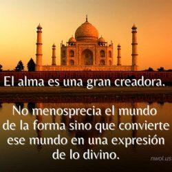 El alma es una gran creadora
