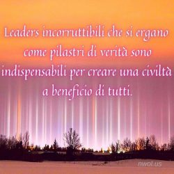 Leaders incorruttibili che si ergano