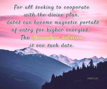 For all seeking to cooperate with the divine Plan
