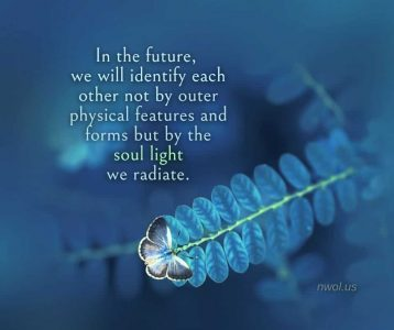 In the future we will identify each other not by outer physical features