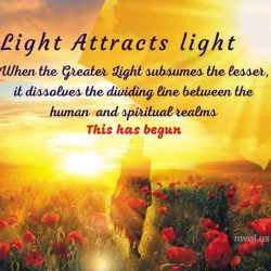 Light attracts light