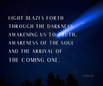 Light blazes forth through the darkness awakening us to Truth
