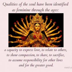 Qualities of the soul have been identified as feminine through the ages