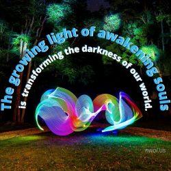 The growing light of awakening souls