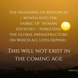 The hoarding of resources