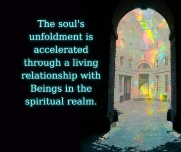 The unfoldment of the soul is accelerated